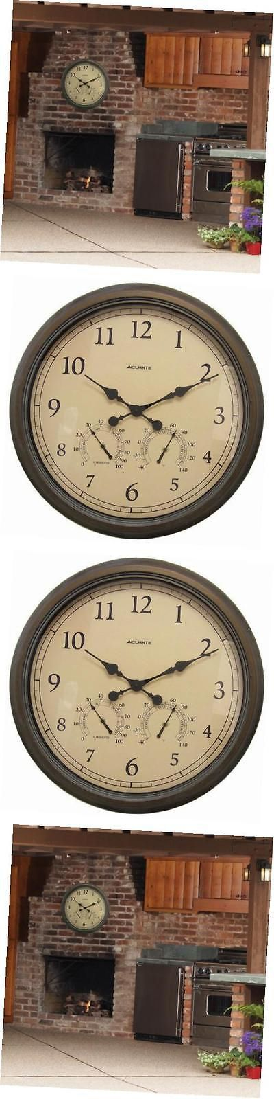 Outdoor Thermometers 75601: 01061 24-Inch Patina Indoor Outdoor Wall Clock With Thermometer And Hygrometer -> BUY IT NOW ONLY: $78.17 on eBay!