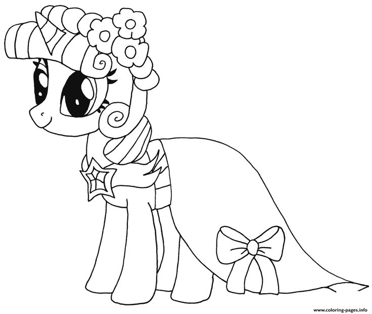 Print Princess Twilight Sparkle My Little Pony Coloring Pages