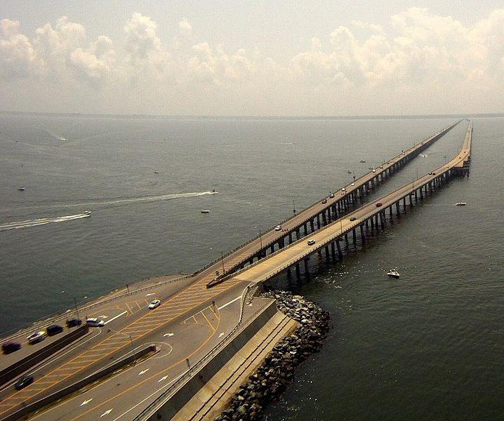 The Chesapeake Bay Bridge Tunnel, Virginia