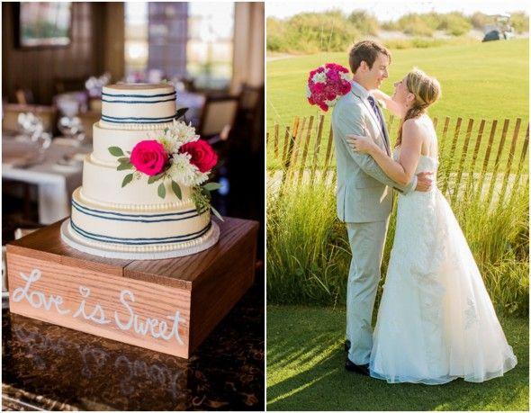 Preppy Pink And Blue Wedding - Preppy Wedding Style
