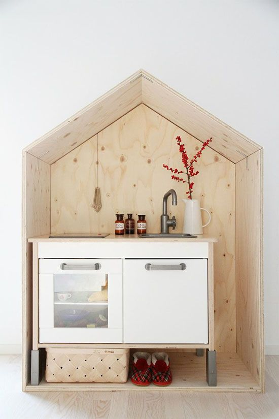 Trend to Try: Plywood Playhouses   At Home In Love