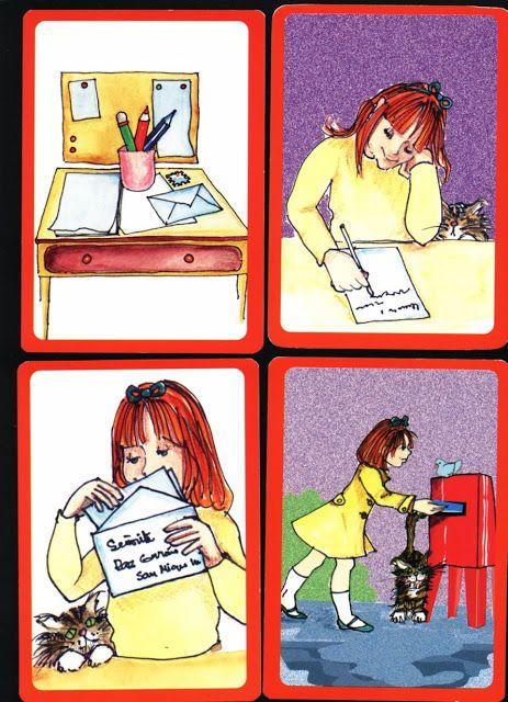 Print, knip uit en leg in de goede volgorde, thema post voor kleuters