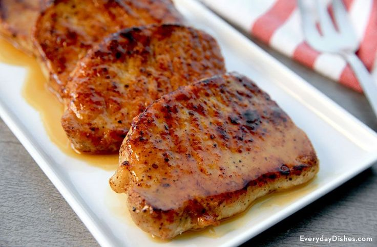 This apple cider-glazed pork chops recipe is easy enough for everyday but elegant enough for company!