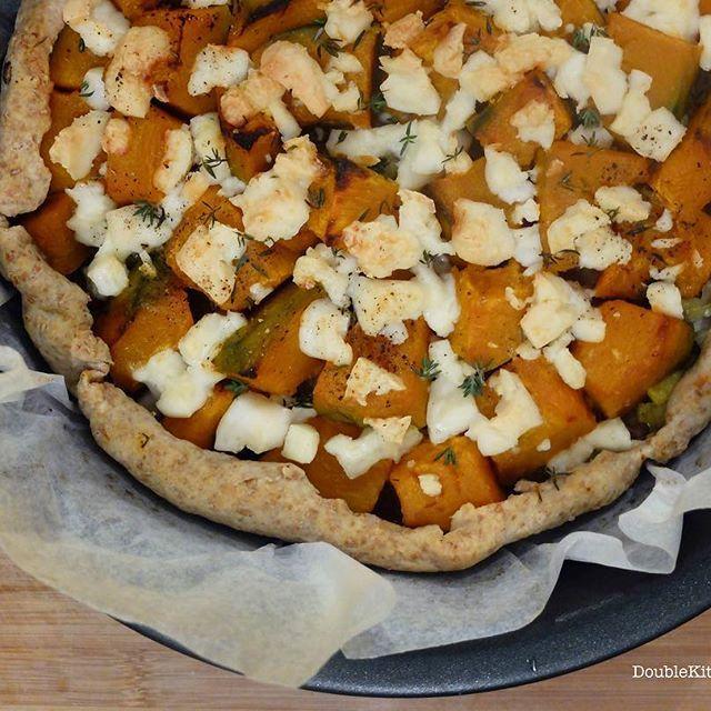 Torta rustica con zucca, porri e formaggio di capra (Rustic pumpkin quiche with leek and goat cheese) – DoubleKitchen