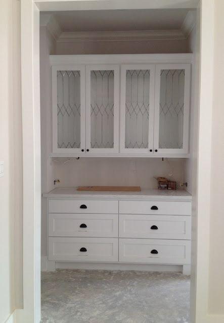 Faux Leaded Glass Cabinet Doors Kitchen Pinterest