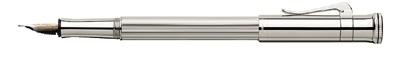 Sterling Silver in pencil OR ball pen OR rollerball pen OR fountain pen (M, F, B)