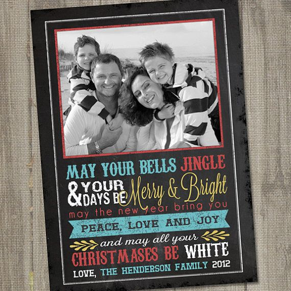 Chalkboard Christmas Wishes Printable Holiday Photo by partymonkey, $15.00