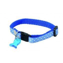 Collar Para Gatos Lunares Azul