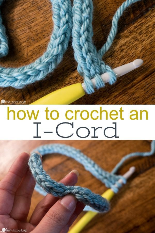 How To Crochet An I Cord Crochet Wow Stuff Pinterest Häkeln