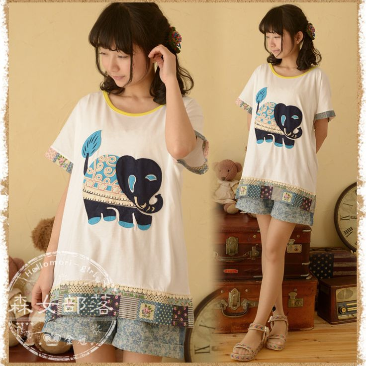 Find More Information about 2014 women's small fresh short sleeve T shirt  free  shipping,High Quality shipping workstations,China t-shirt picture Suppliers, Cheap shipping box for guitar from Forest girl fans store on Aliexpress.com