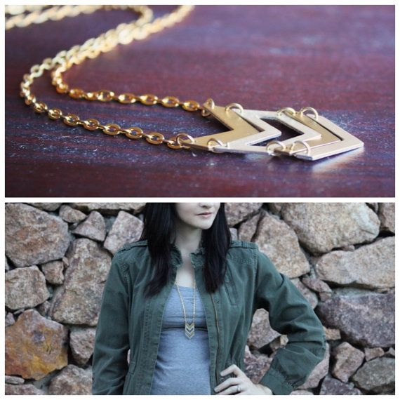 Two Tone Chevron Necklace by ErroStudios on Etsy https://www.etsy.com/listing/171002125/two-tone-chevron-necklace