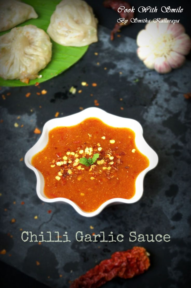 CHILLI GARLIC SAUCE FOR MOMOS / SPICY DIP ( CHUTNEY ) FOR MOMOS ~ Cook With Smile