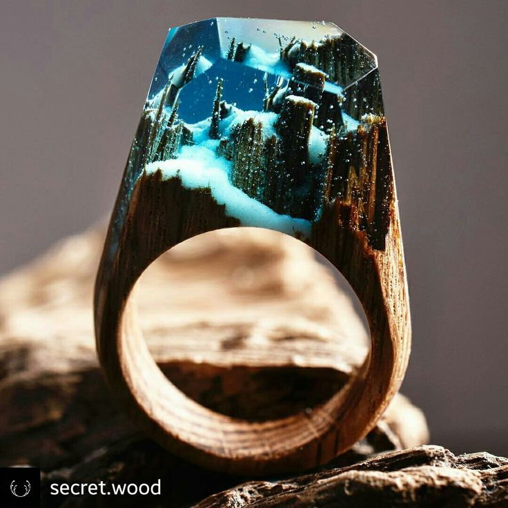 Ring: handmade from fresh wood and resin. By mysecretwood