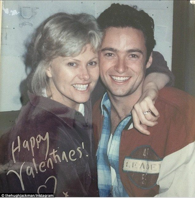 'My Debs': Hugh Jackman showed off his romantic side for Valentine's Day posting a flashback photo of himself with wife Deborra-Lee Furness from the late '90s Married 20 years