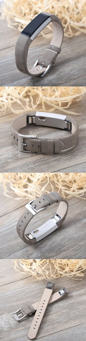 Bayite Leather Replacement Bands for Fitbit Alta - Suede Grey We have moved from fitbit-atla dot com to http://www.highqualitylifestyle.com #fitbit #fitbitalta #fitbitaltahr #fitbitaltabands #altahr