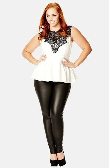 City Chic 'Lace Love' Top (Plus Size) | Nordstrom: