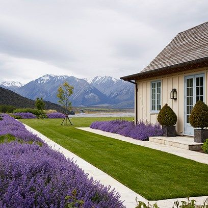 lavender garden with stunning view | adamchristopherdesign.co.uk