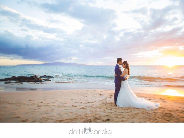 Maui wedding sunset from the Andaz Wailea Dmitri and Sandra Photography