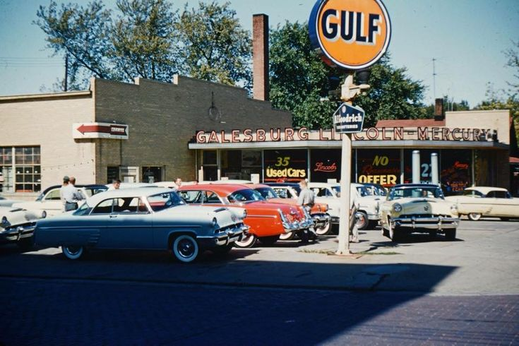 Galesburg, Illinois Lincoln-Mercury dealership, on the corner of Broad and Ferris Street.