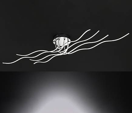 Plafón 8 luces Linee LED 8L
