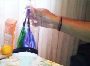 Pulmon con botella