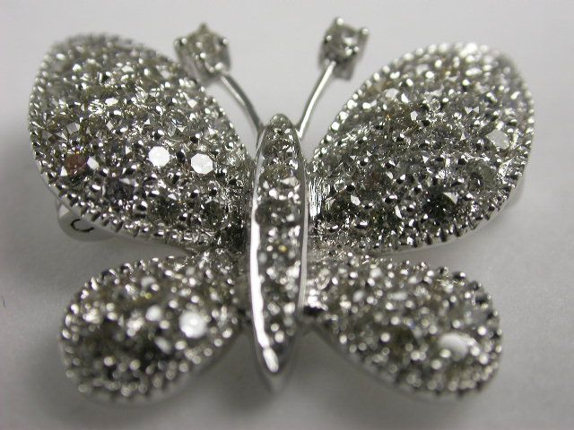 "18ct white #Gold Brooch/ #Pendant   ""Butterfly"" pave set diamonds. Total 0.76ct of #diamonds. Price: $2250.00"