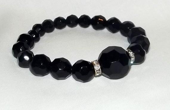 Vintage Style Black Bracelet bangle black by NightOwlConsignments, $14.00