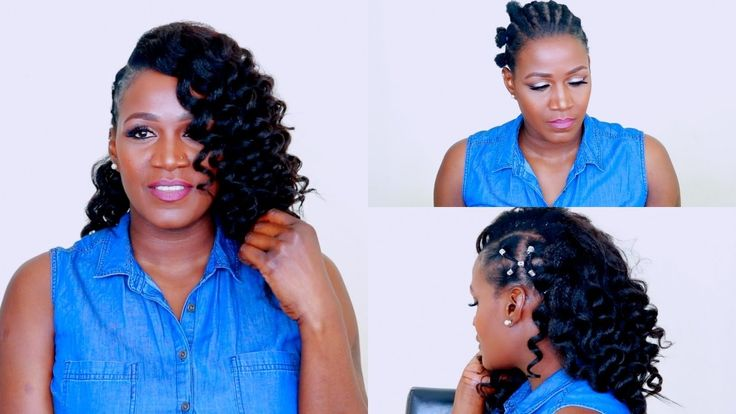 African Threading Side Mohawk With Clip Ins | Betterlength