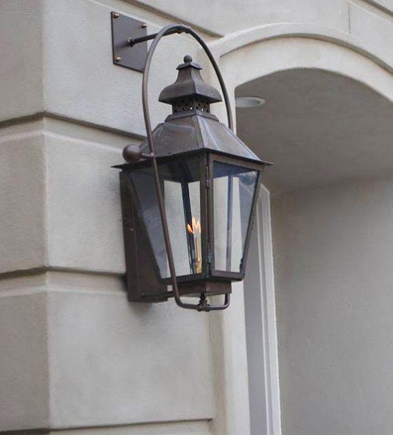 Copper Lantern Pendant Light Copper Light Fixture Rustic Outdoor Lantern Modern Antique Vintage Modern Gas Or Electric Lantern Logan With Images Copper Lantern Outdoor Light Fixtures Outdoor Lanterns