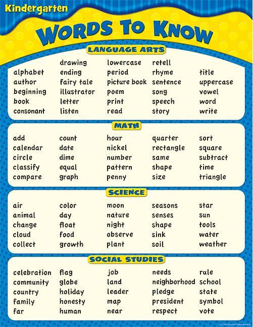 Best 25+ Kindergarten vocabulary ideas on Pinterest Vocabulary - dot physical forms