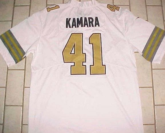 sports shoes bfbe2 1c589 Alvin Kamara #41 New Orleans Saints NFL NFC South White Gold ...