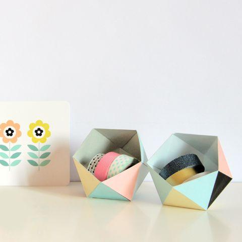 DIY paper geo ball