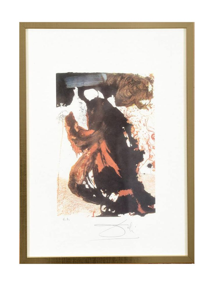 Salvador Dali hand signed limited edition lithograph blind stamp by Jean Estrade