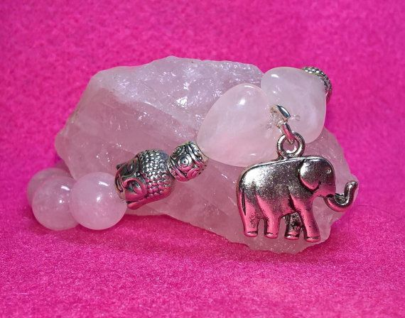Check out this item in my Etsy shop https://www.etsy.com/uk/listing/480387827/heart-chakra-crytal-rose-quarts-elephant