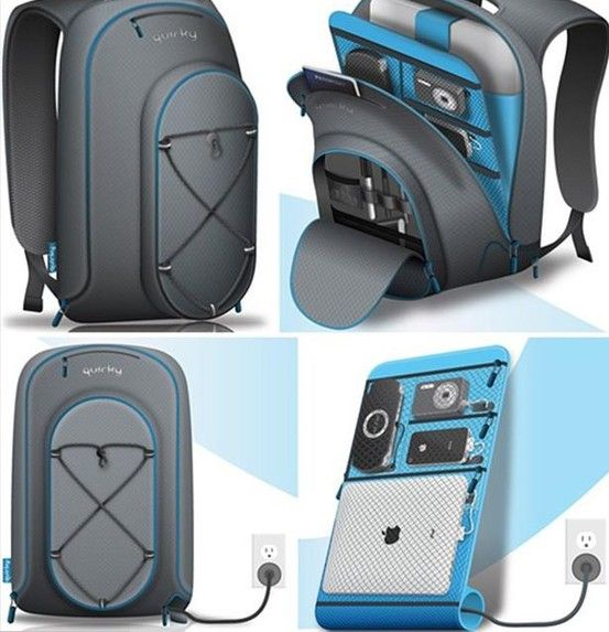 A Docking Station Back-Pack with a Built-In Charger !