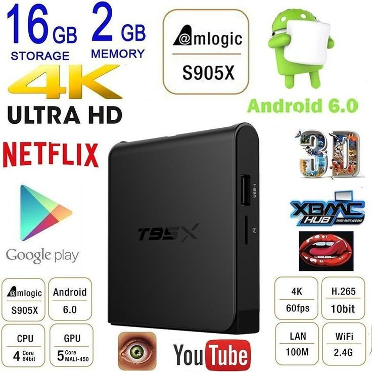 รีวิว สินค้า T95X 2g 16g TV Box Android 6.0 Marshmallow Amlogic S905X 64bit QuadCore XBMC Kodi 16.1 Ultra HD 4K 60fps H.265 with WiFi DLNAStreaming Media Player Smart Set Top Box - intl ⚾ รีวิวพันทิป T95X 2g 16g TV Box Android 6.0 Marshmallow Amlogic S905X 64bit QuadCore XBMC Kodi 16.1 Ultra HD 4K 6 โปรโมชั่น | special promotionT95X 2g 16g TV Box Android 6.0 Marshmallow Amlogic S905X 64bit QuadCore XBMC Kodi 16.1 Ultra HD 4K 60fps H.265 with WiFi DLNAStreaming Media Player Smart Set Top Box…