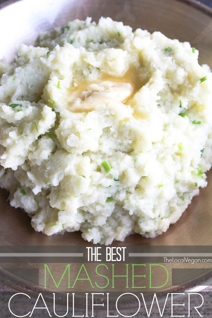 The Best Mashed Cauliflower