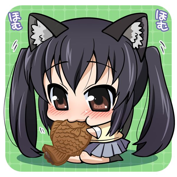 Hungry Chibi Neko Anime Girl   anime girls   Pinterest ...