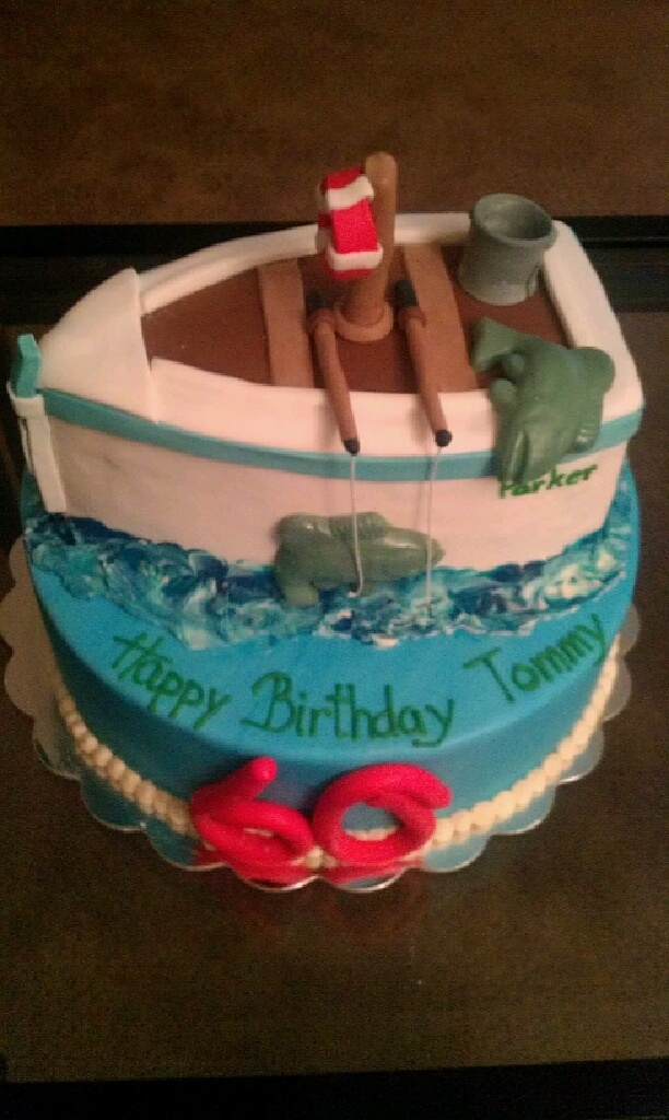 Best Canal Boat Cakes Images On Pinterest Canal Boat Boat - Boat birthday cake ideas