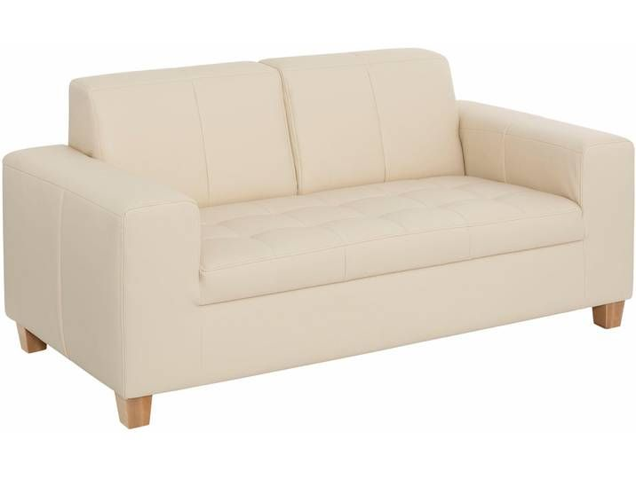 Home Affaire 2er Sofa Corby Beige Naturleder Hoher Sitzkomfort F Furniture Home Love Seat