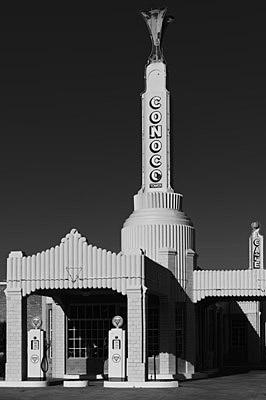 Conoco Gas Station - Route 66 Shamrock -Texas - USA