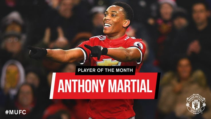 Anthony Martial is Man Utd's January Player of the Month  - Official Manchester United Website