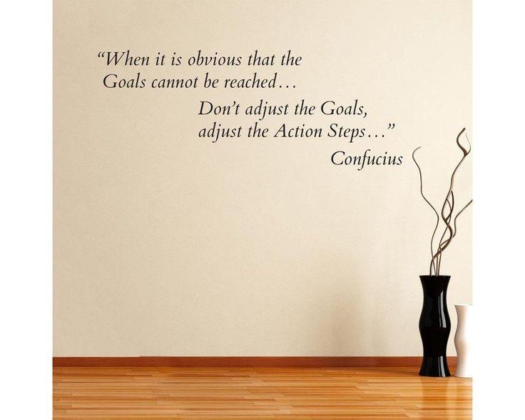 When it is obvious... Confucius, αυτοκόλλητο τοίχου