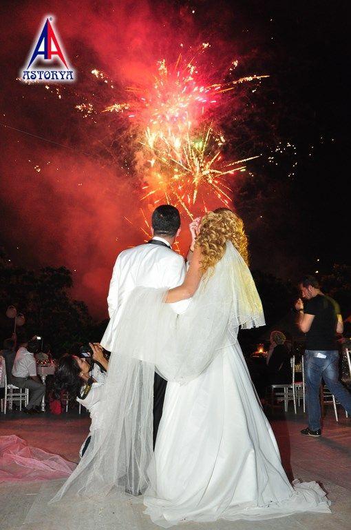 Aslanlar club düğün töreni havai fişek gösterisi 5