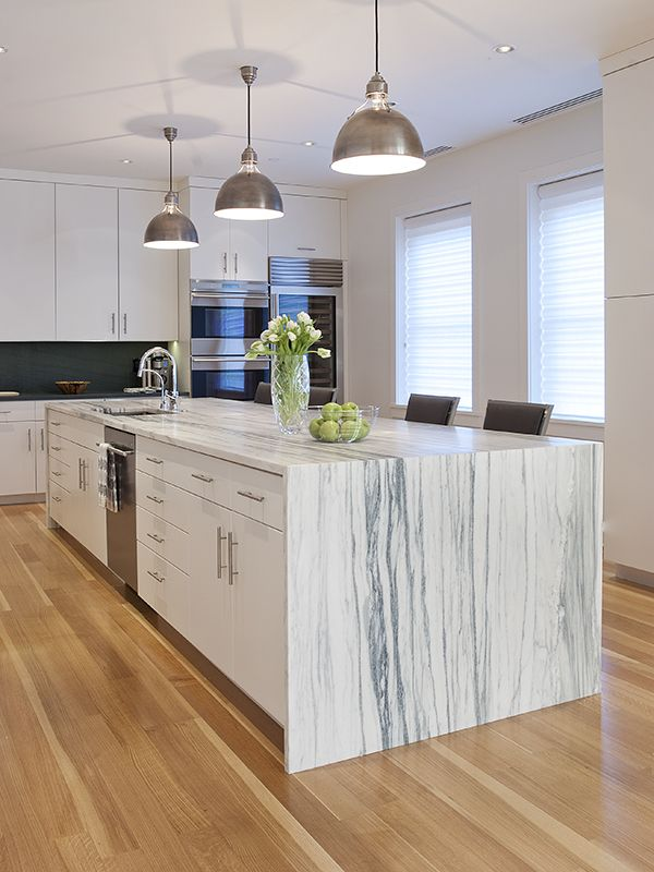 Danby vein cut marble from Vermont      FIRM: North Street Design Architecture | PRODUCT: Montclair Danby Vein Cut