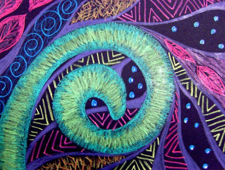 Koru Spiral Plant Artwork