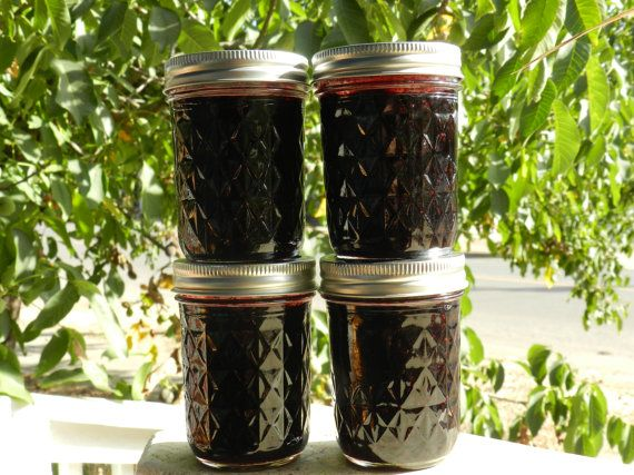 Wild Mountain Huckleberry Jam small batch hand by IddellDewGardens