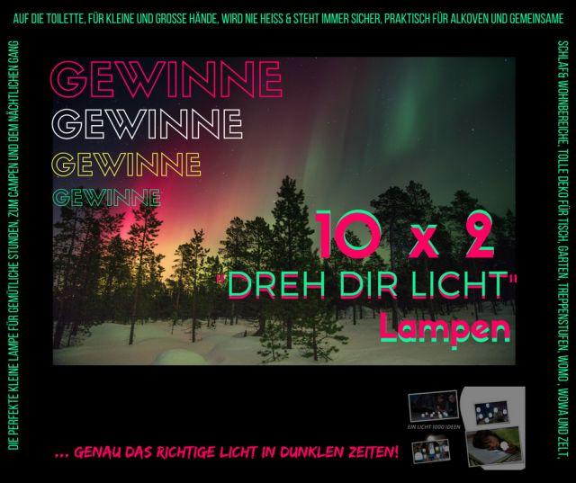 GEWINNE 10x2 DREH DIR LICHT LAMPEN ... toi, toi, toi,  #camping #licht #Wohnmobil #reise