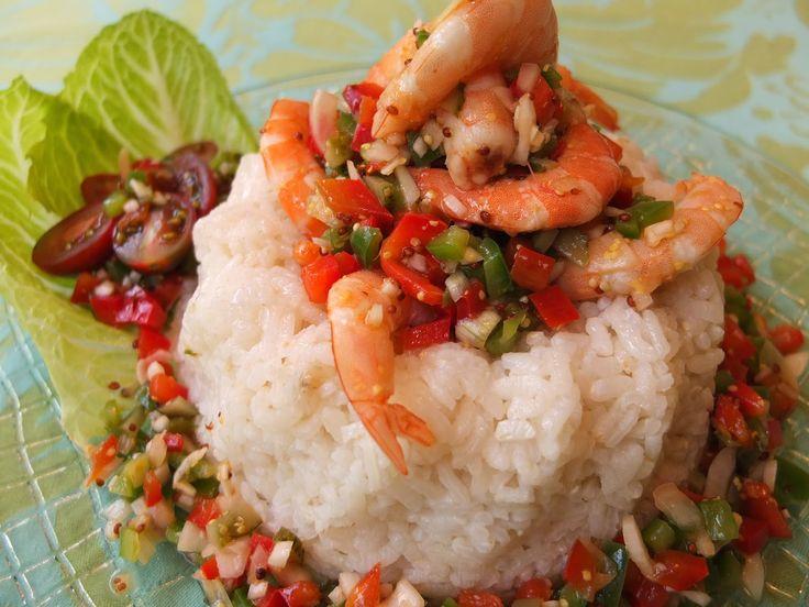 Cocinando con lola garc a ensalada de arroz y langostinos - Ensalada de langostinos ...