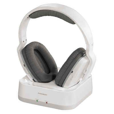 Thomson WHP3311W UHF-Funkkopfhörer, Over-Ear, PLL-System, 100 m, Weiß